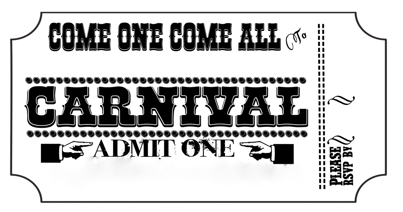 Carnival Admission Ticket Template