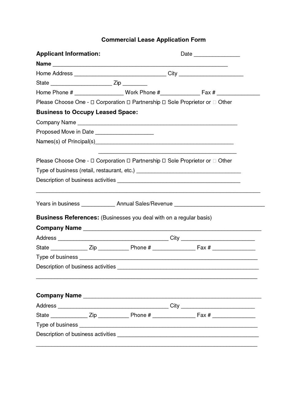Commercial Lease Addendum Template