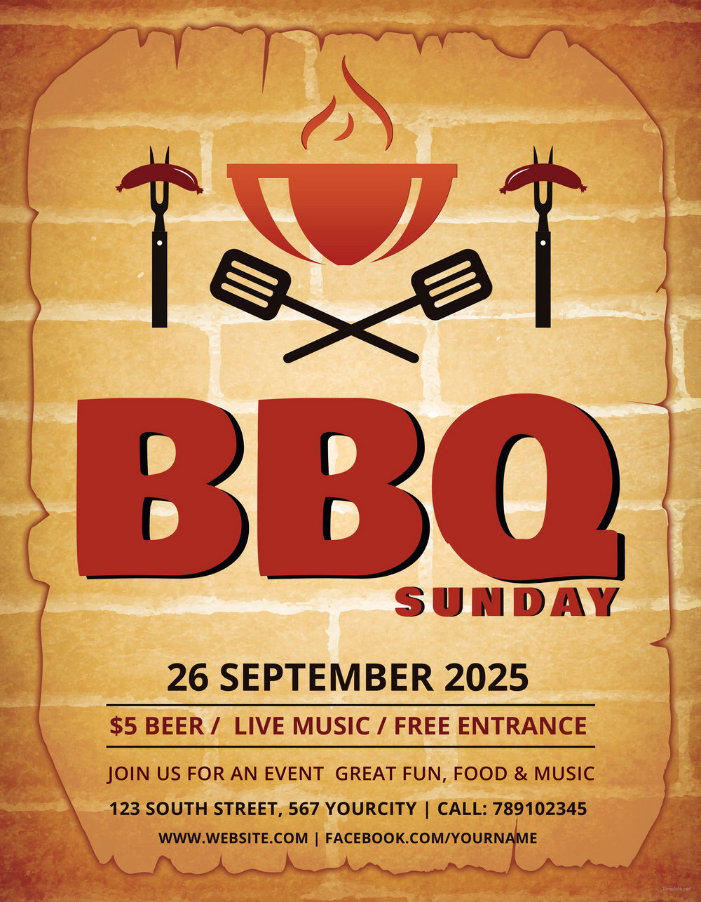 Company Bbq Flyer Free Template