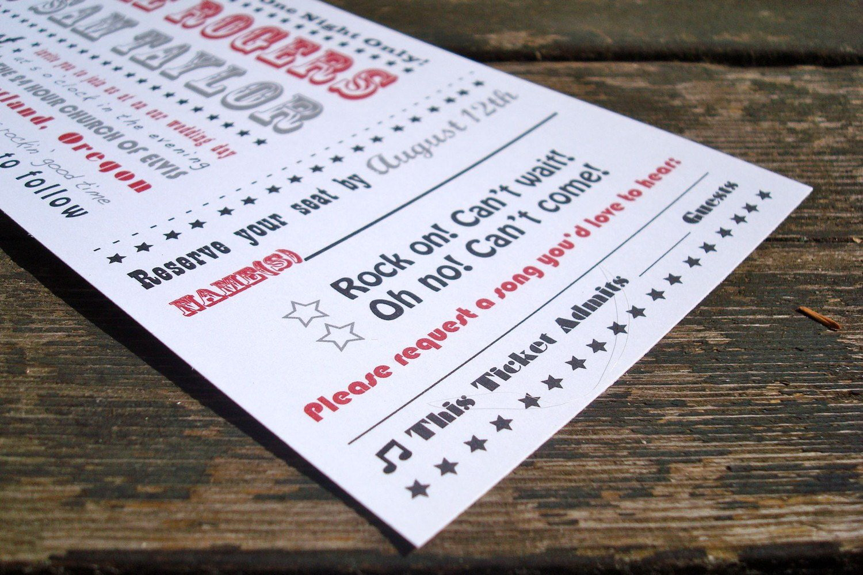Concert Ticket Stub Template