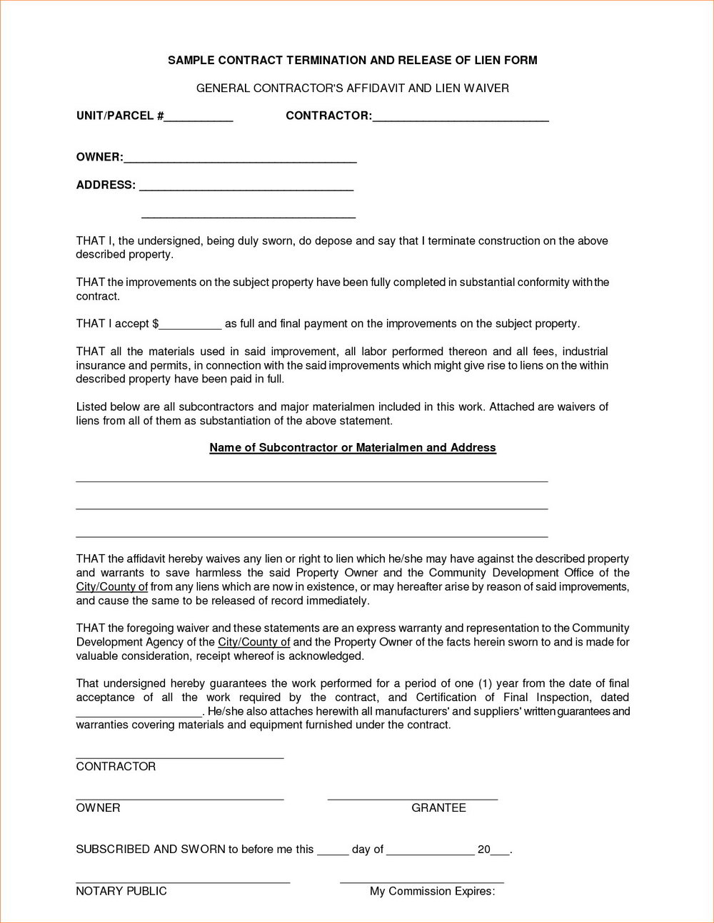 Contractor Contract Template Uk
