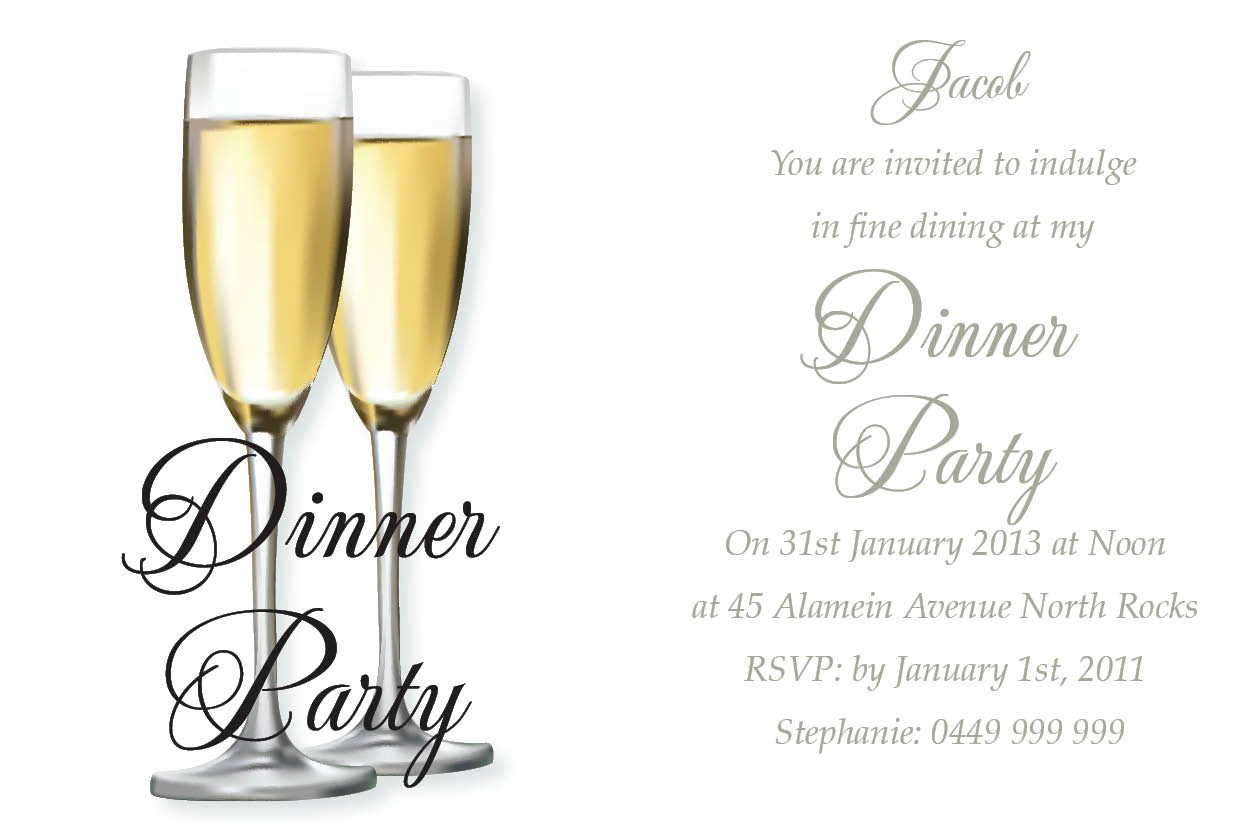 Dinner Invitation Template Free