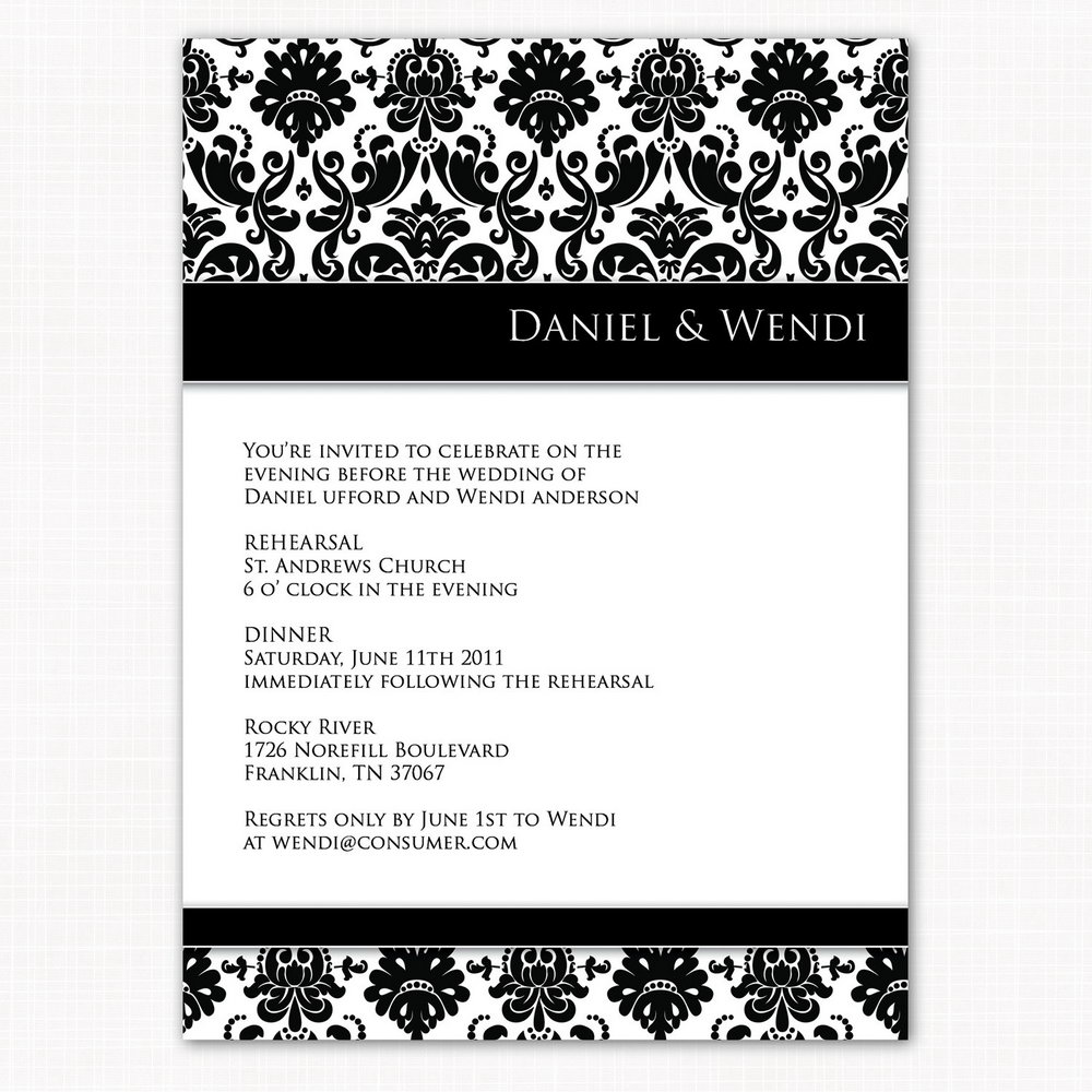 Dinner Invitation Template Word