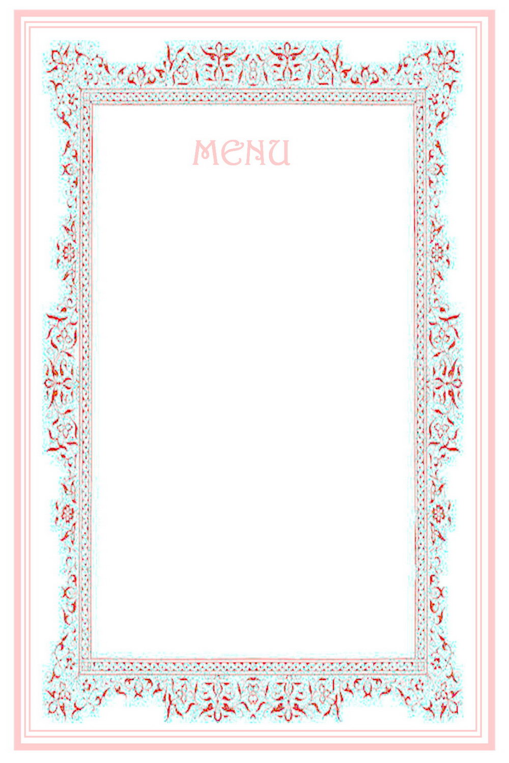 Dinner Party Menu Templates Free Download Word