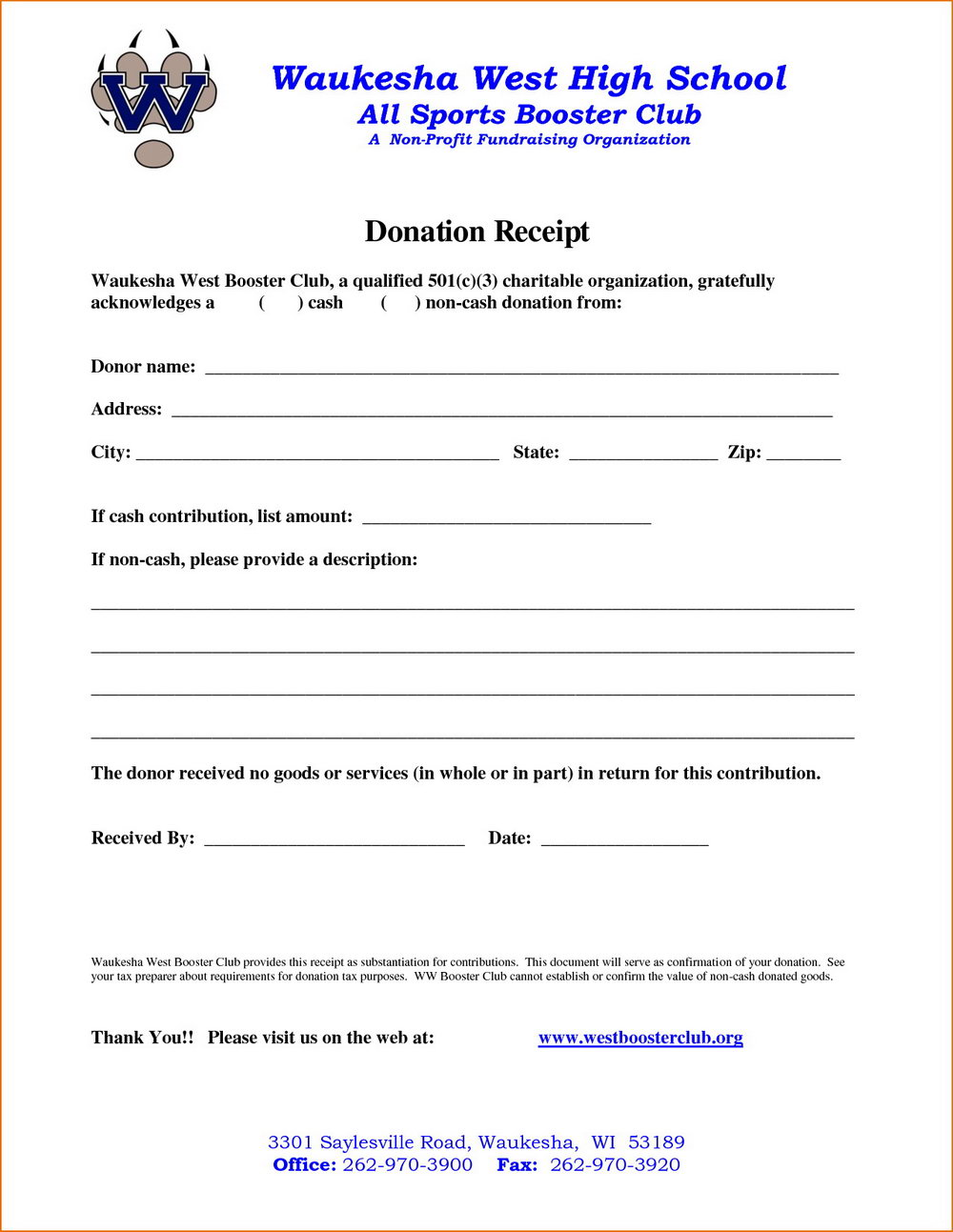 Donation Letter Template For Non Profit Organization Pdf