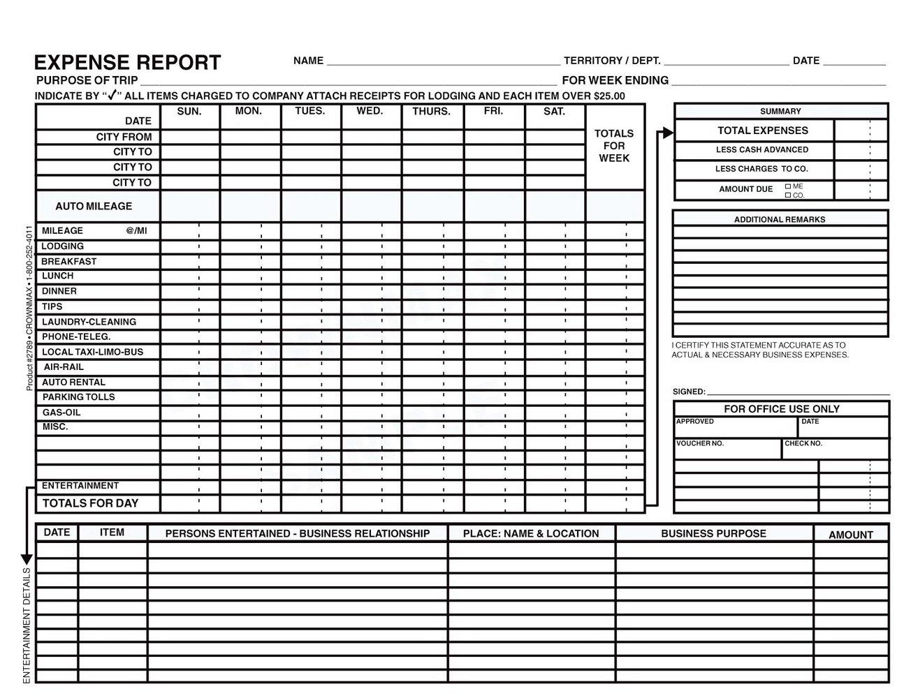 Expense Sheet Template