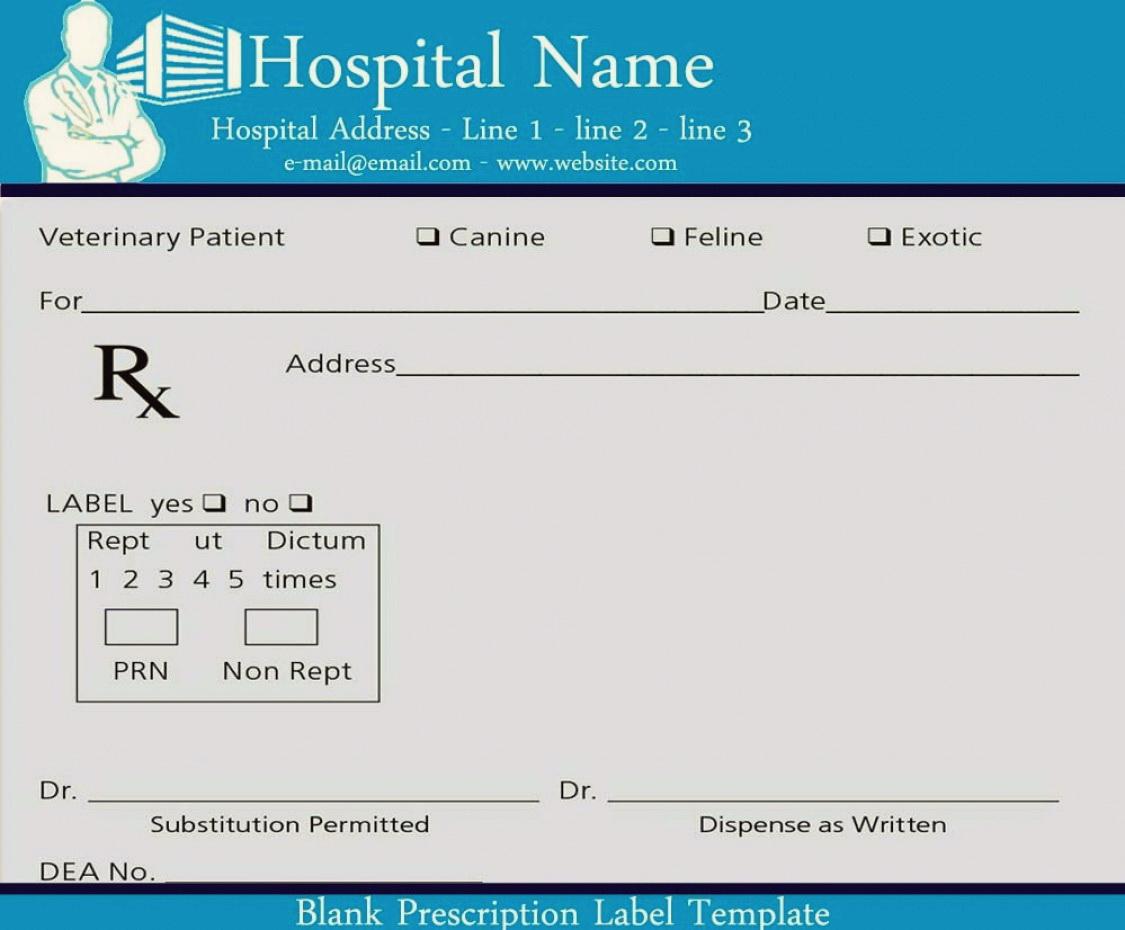 Fake Prescription Label Template