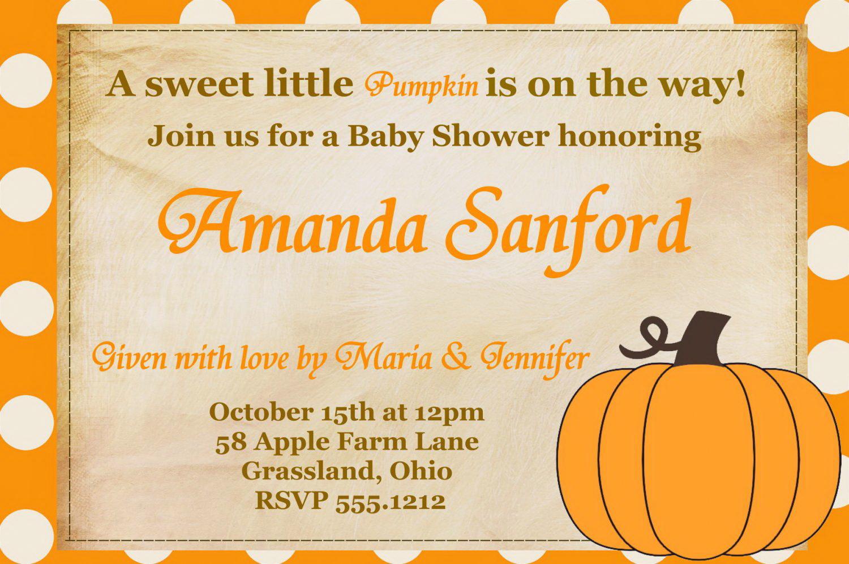 Fall Baby Shower Invitation Templates Free