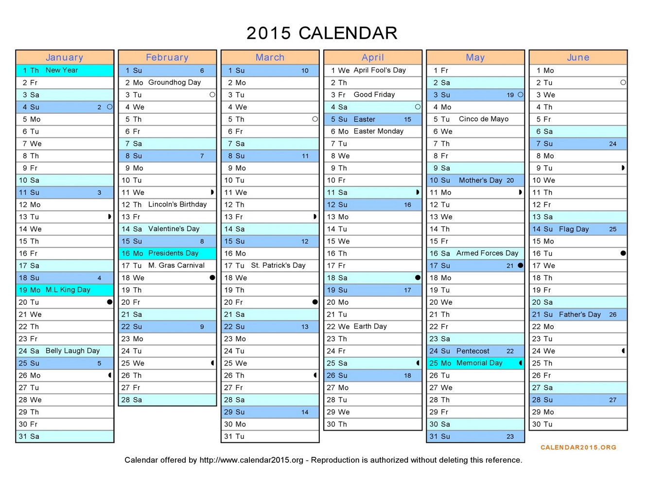 Family Vacation Calendar Template