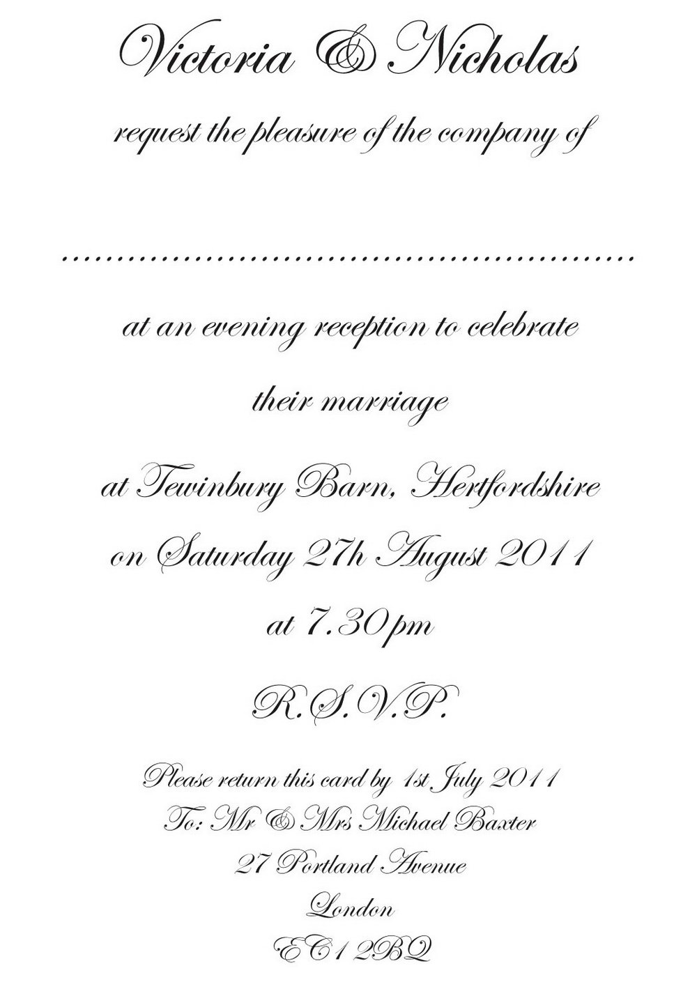 Formal Invitation Template Blank