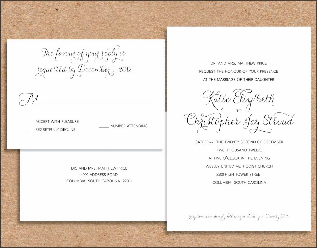 Formal Invitation Template Word