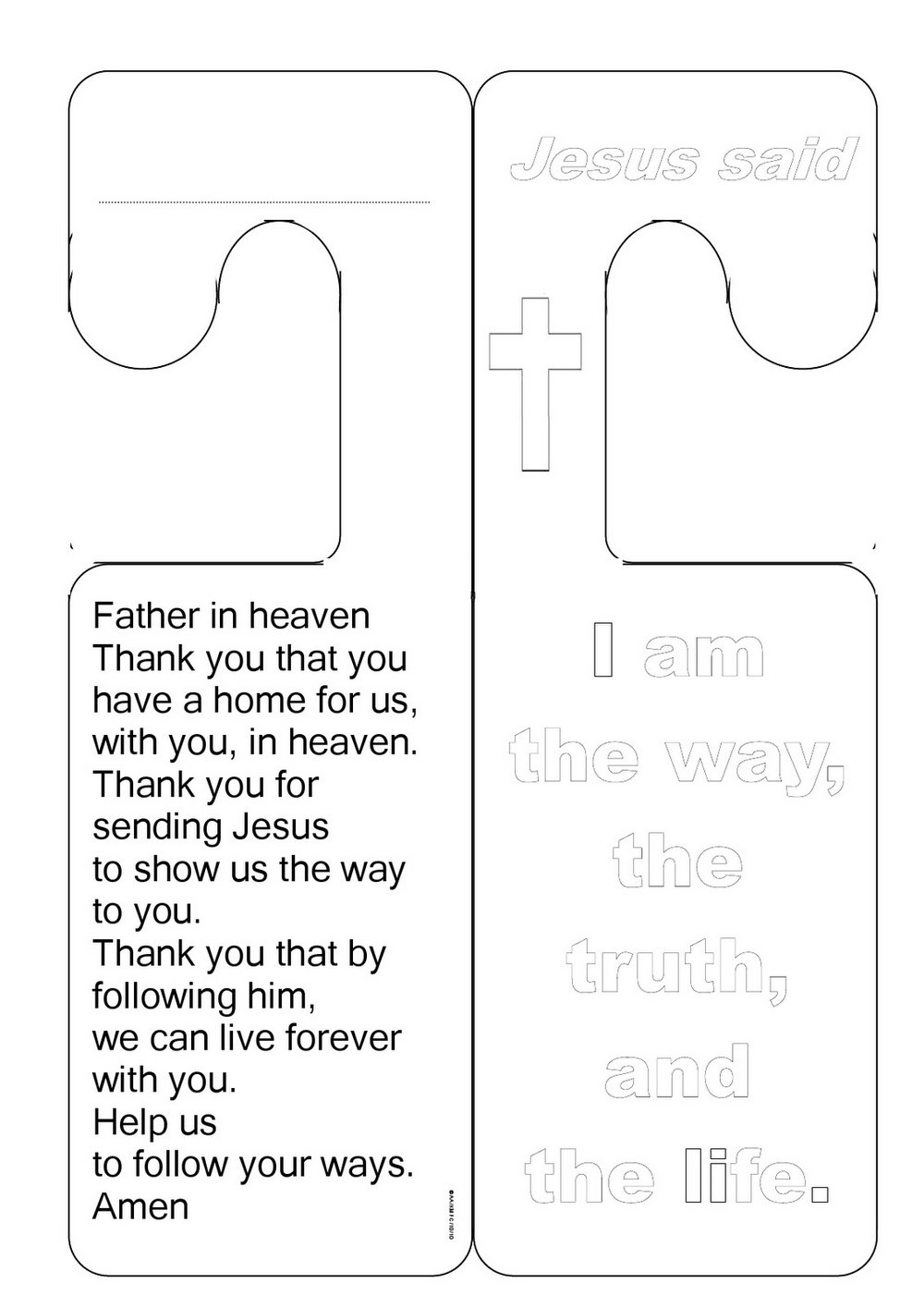 Free Church Door Hanger Template