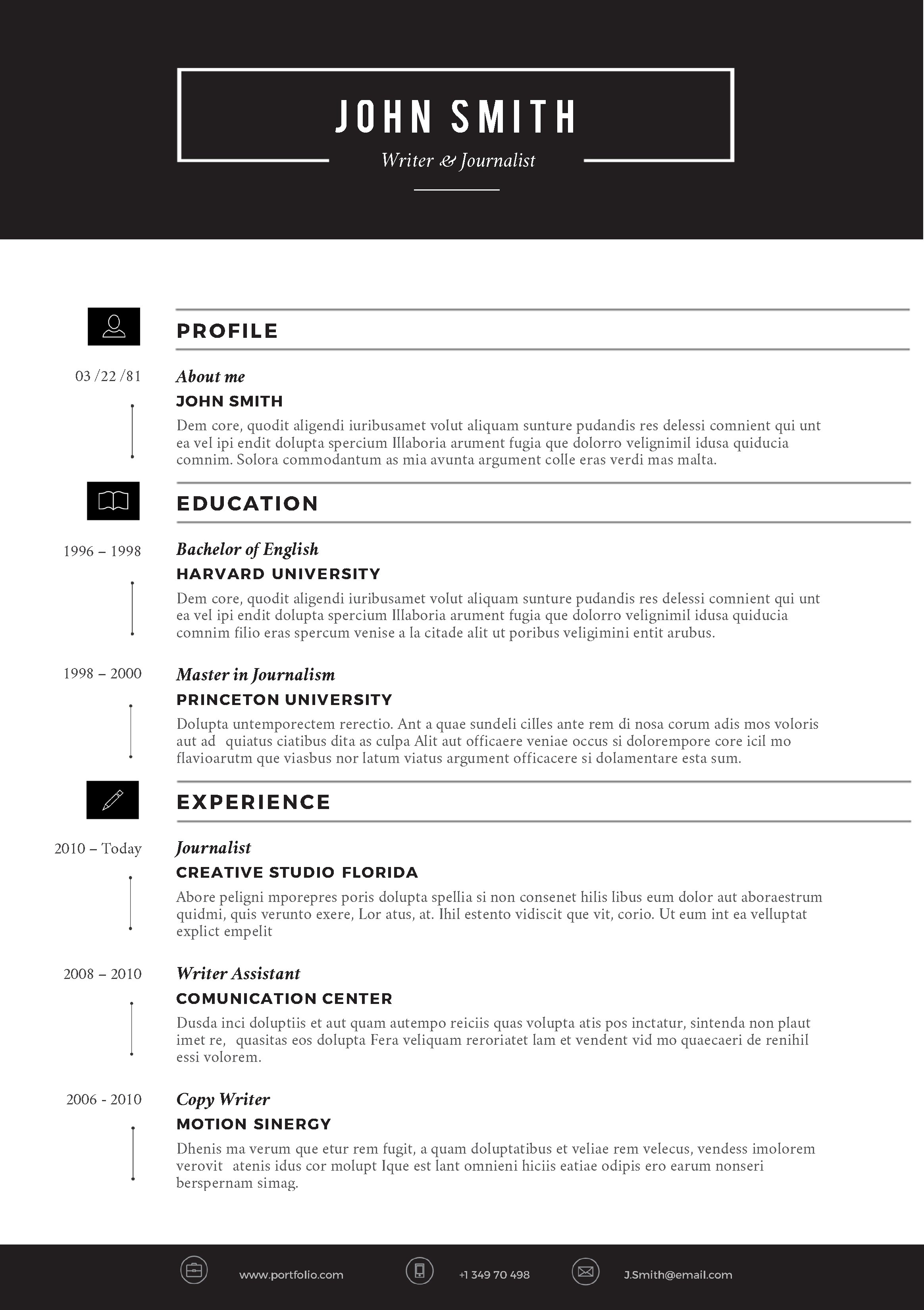 Free Creative Resume Templates Word Download