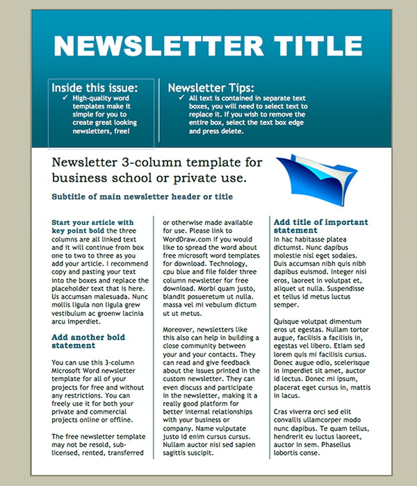 Free Editable Classroom Newsletter Templates For Word