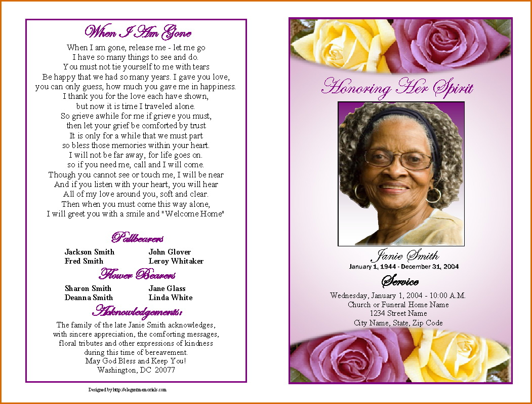 Free Funeral Announcement Template Word