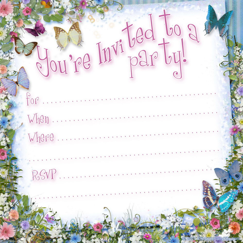 Free Party Invitation Templates For Word
