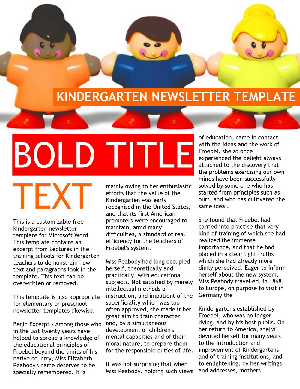 Free Preschool Weekly Newsletter Templates