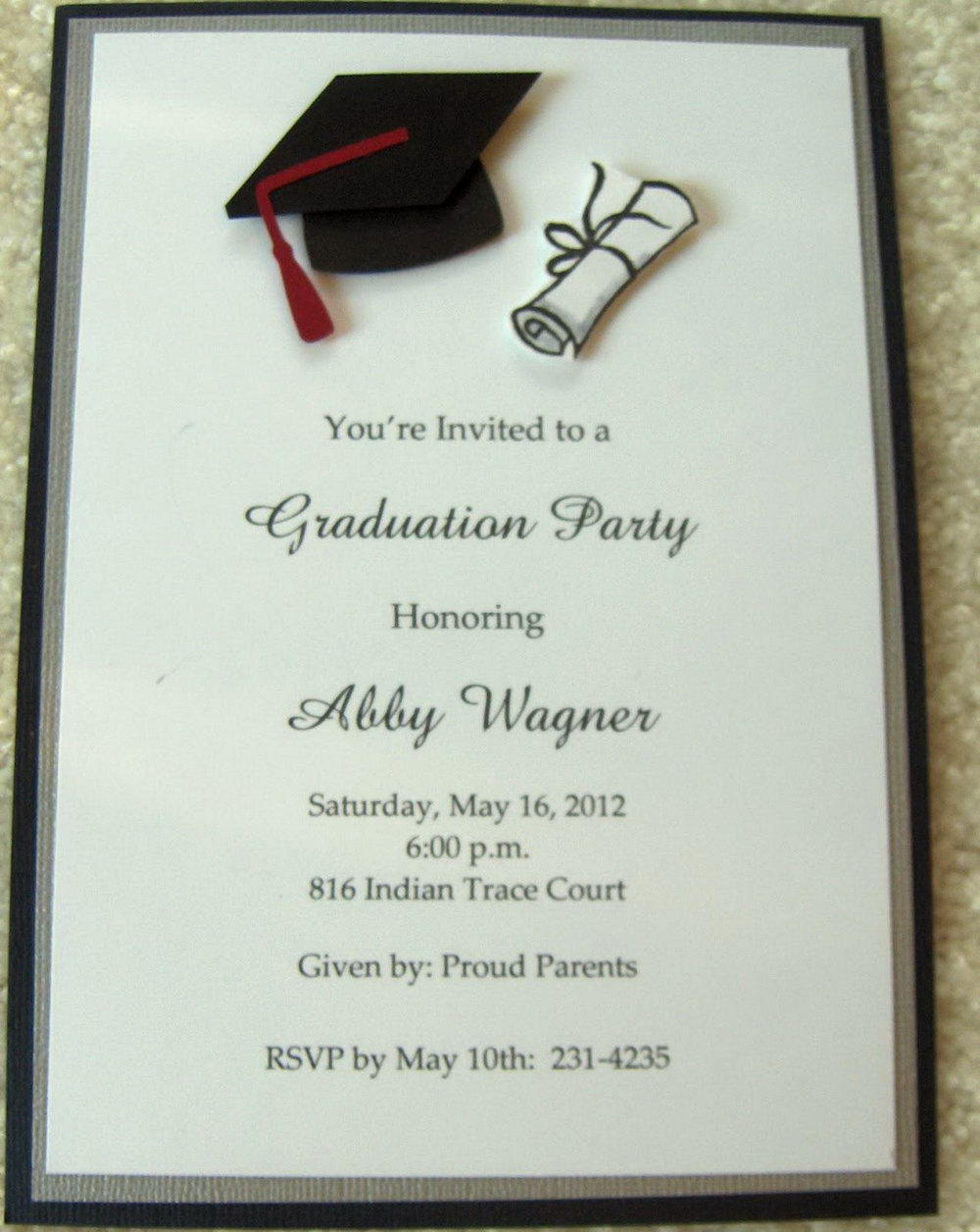 graphic about Printable Grad Cards identified as Absolutely free Printable Commencement Invitation Templates Playing cards
