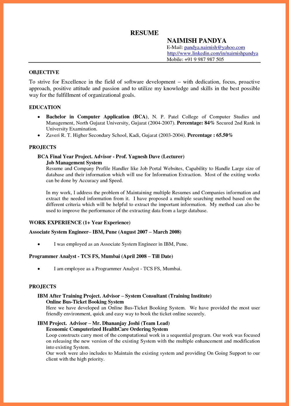 Free Printable Resume Templates Pdf