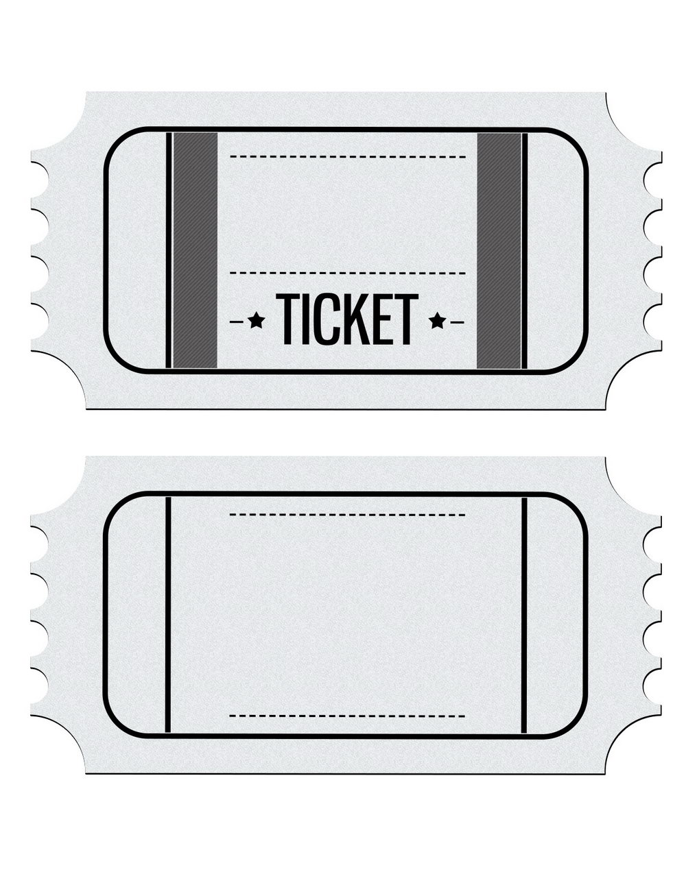 Free Printable Ticket Stub Template