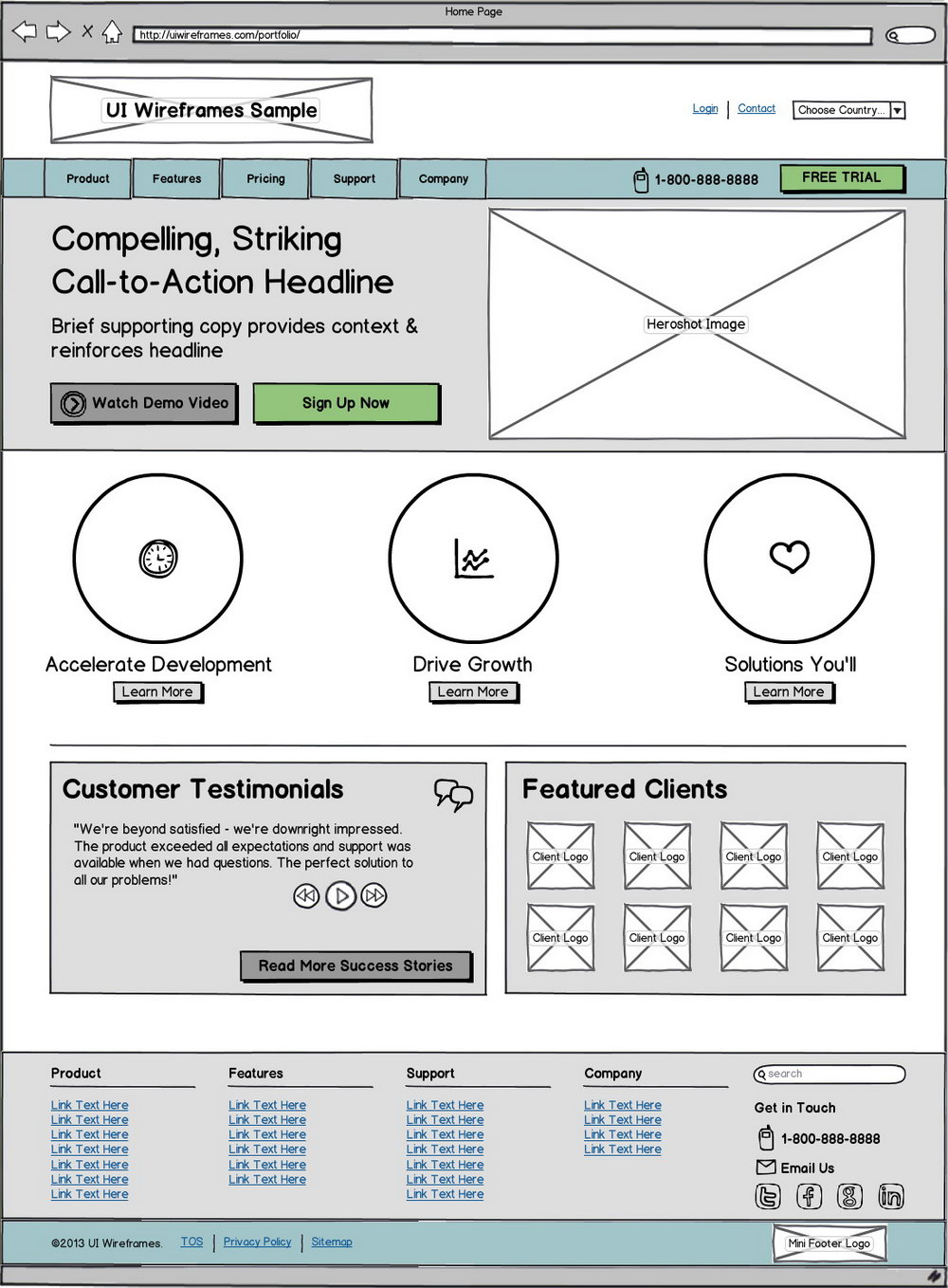 Free Website Wireframe Templates