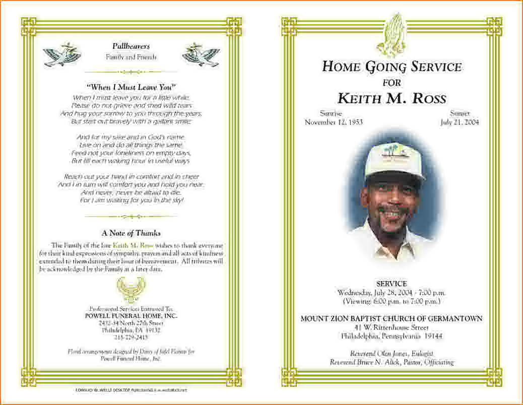 Funeral Program Templates Word Free