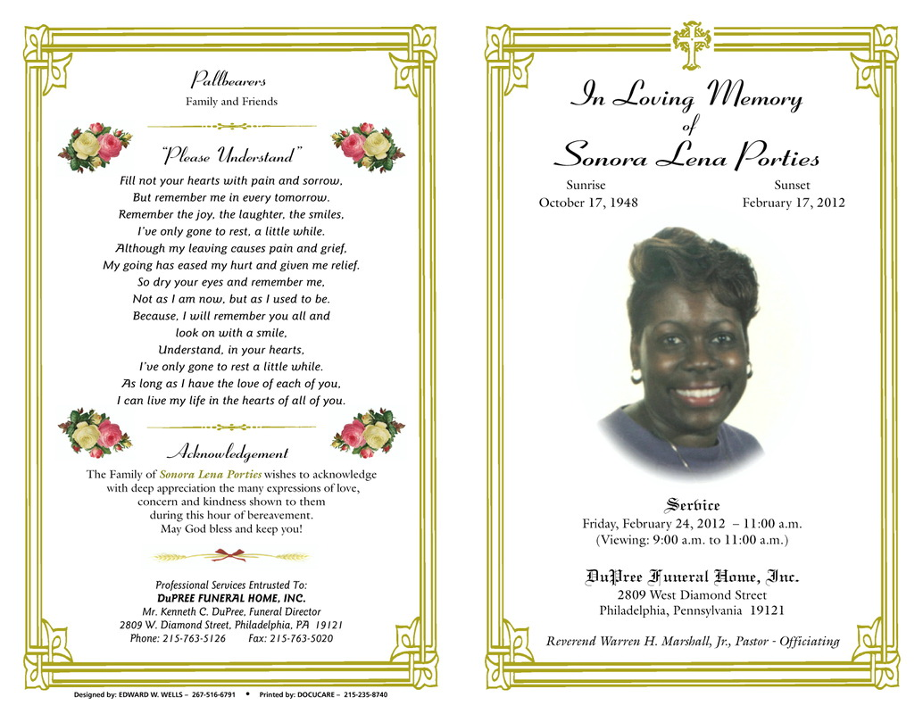 Funeral Programs Templates Free