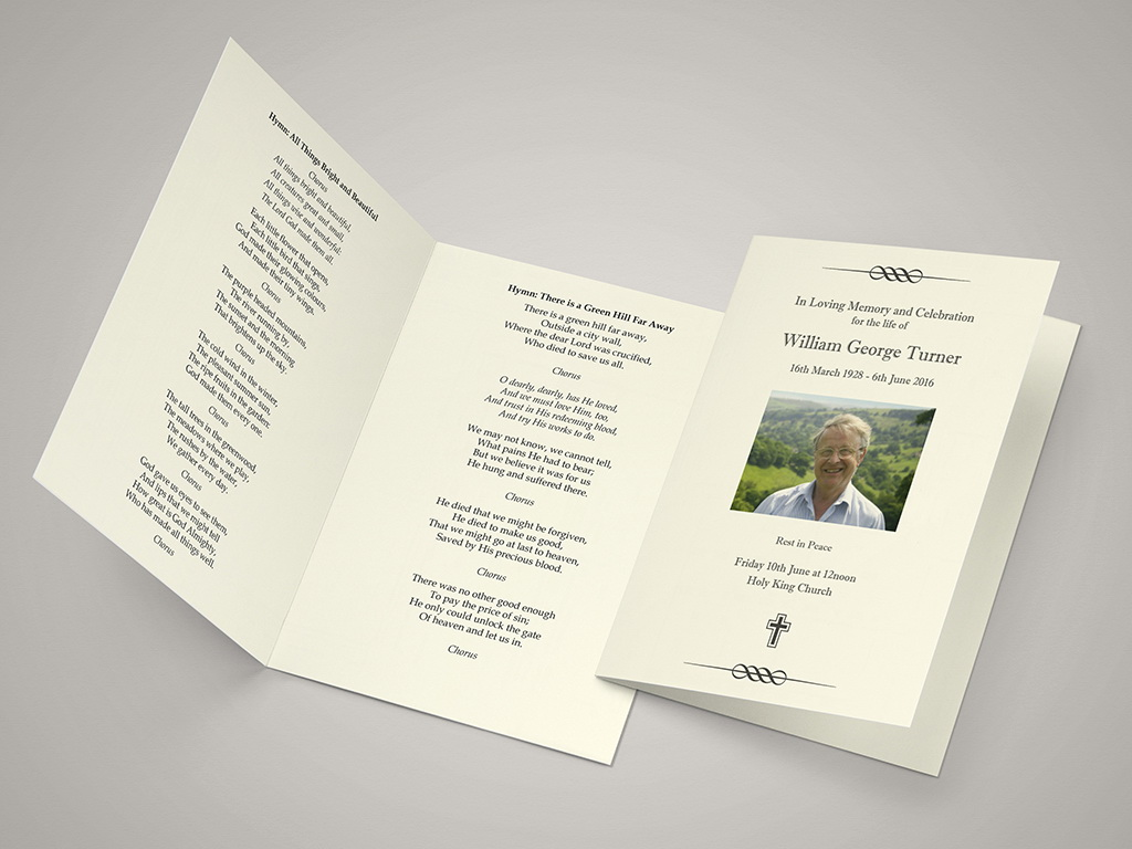 Funeral Service Program Template Uk