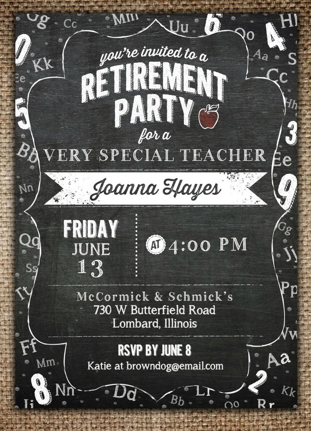 Funny Retirement Invitation Template