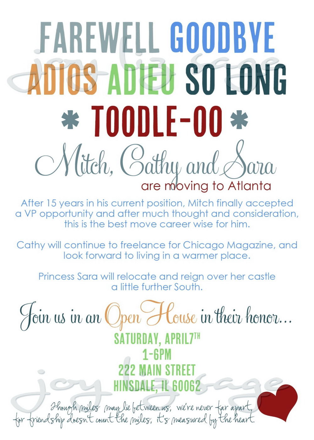 Going Away Party Invitation Template Word