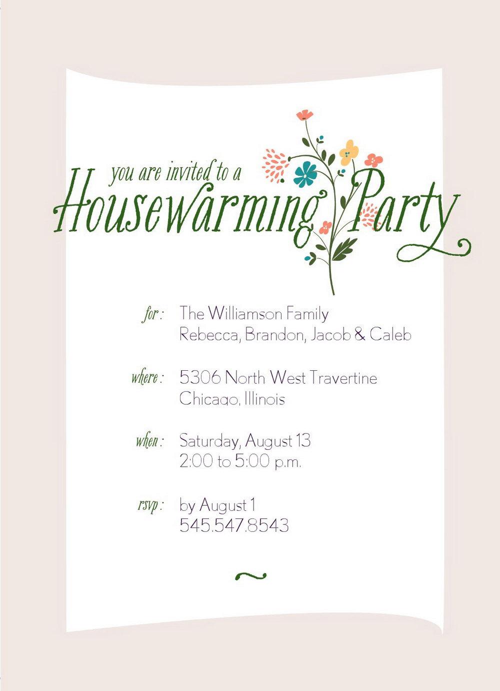 Housewarming Invitation Template Microsoft Word