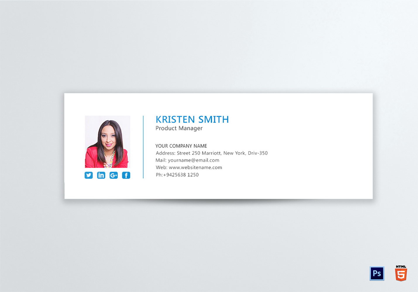 Html Email Signature Templates Free