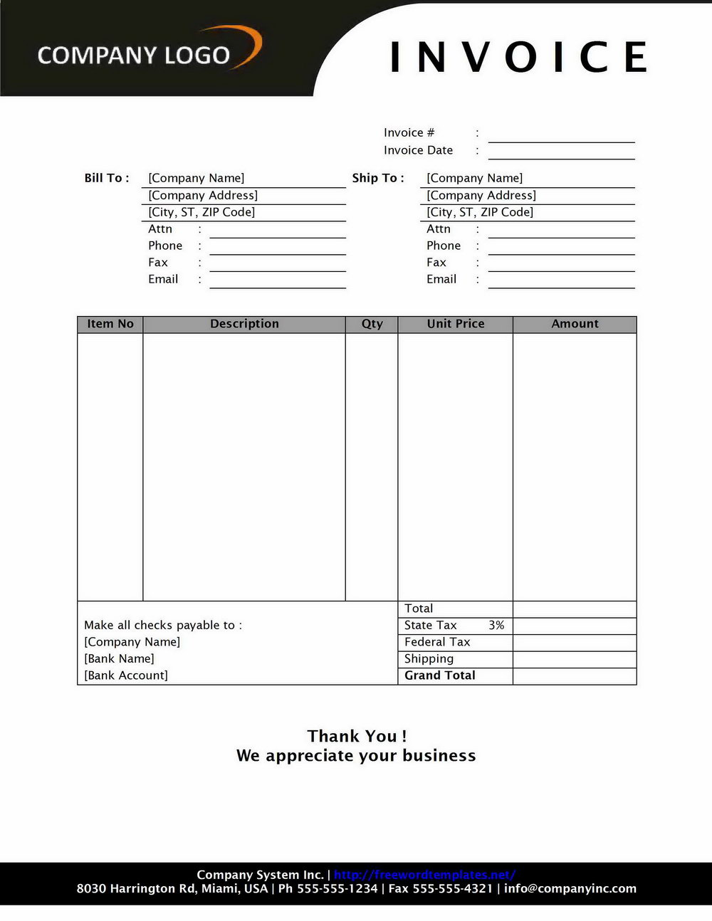 Invoice Template Open Office Uk