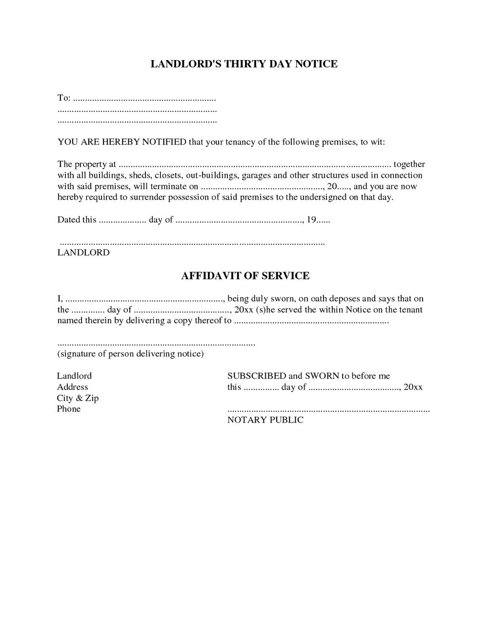 Lodger Eviction Letter Template