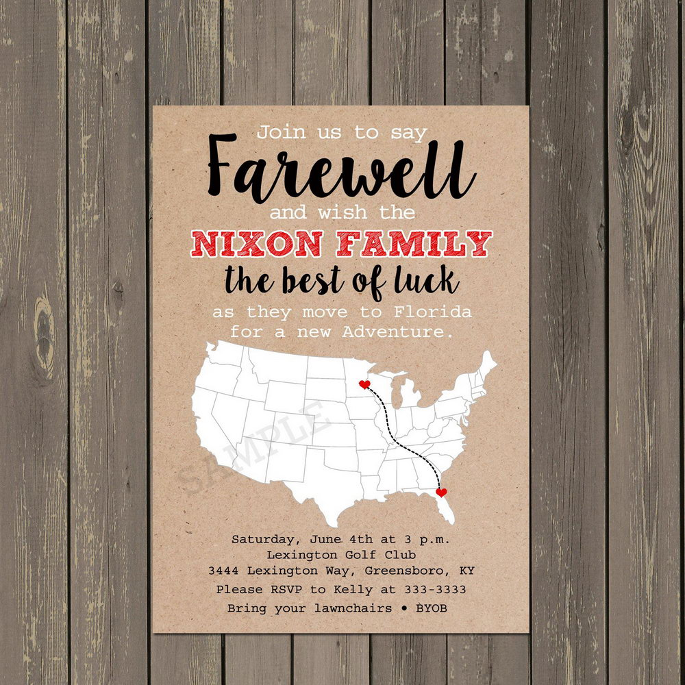 Military Going Away Party Invitation Templates