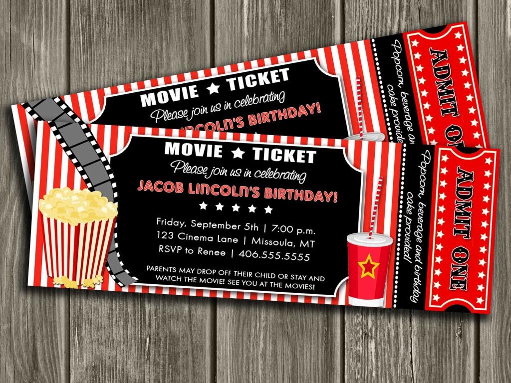 Movie Ticket Wedding Invitation Template Free