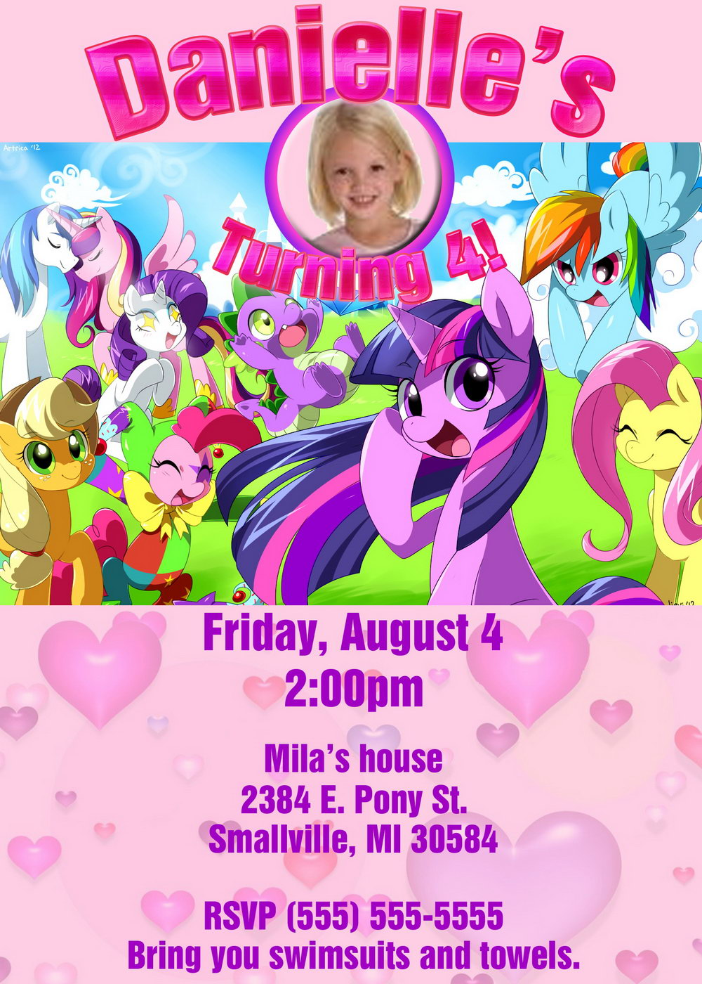 My Little Pony Invitation Template Free