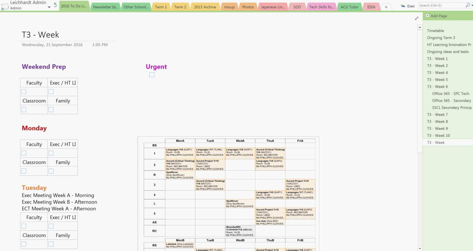Onenote Project Management Templates Free