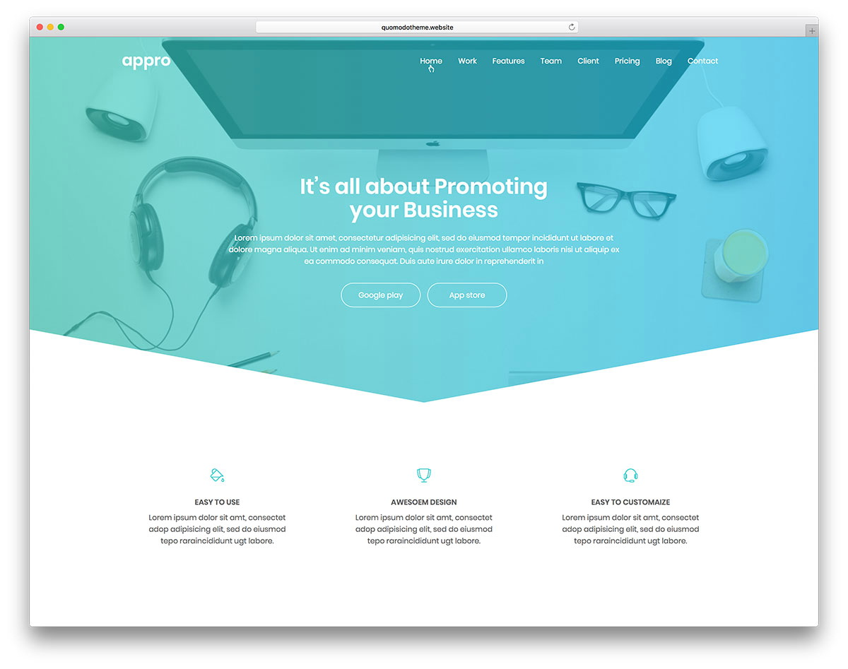 Parallax Website Template Psd Free Download