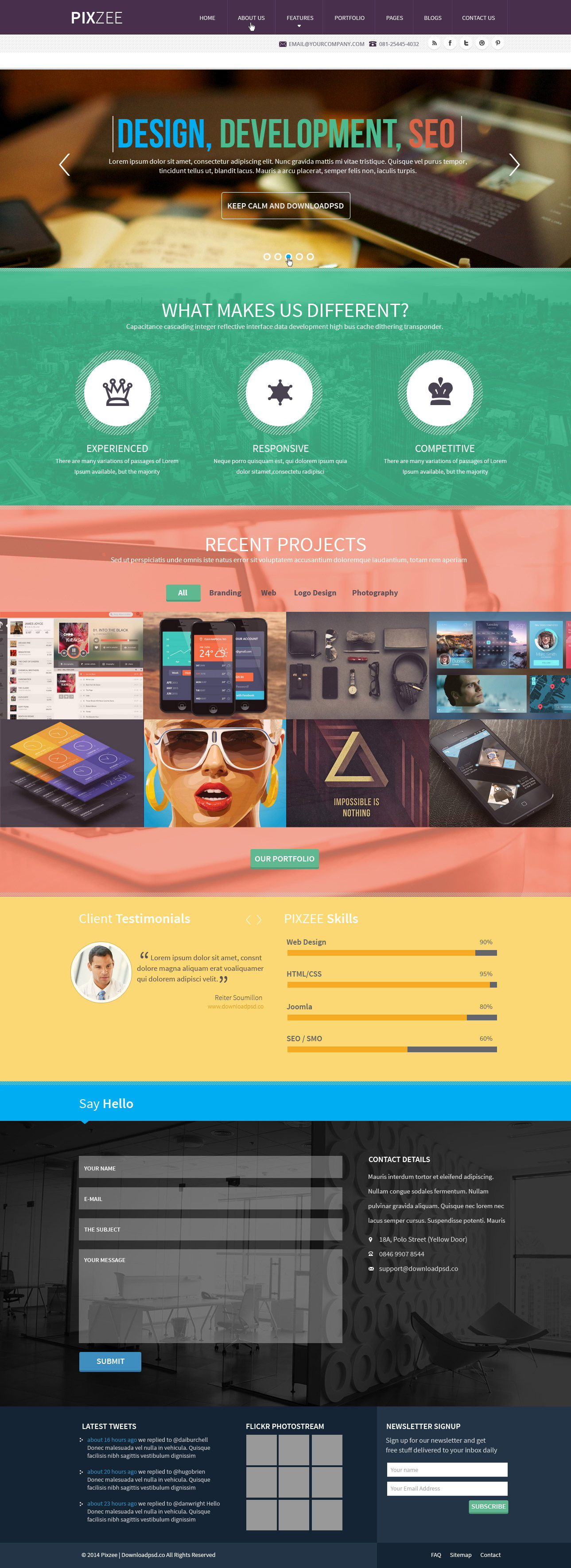 Parallax Website Template Themeforest
