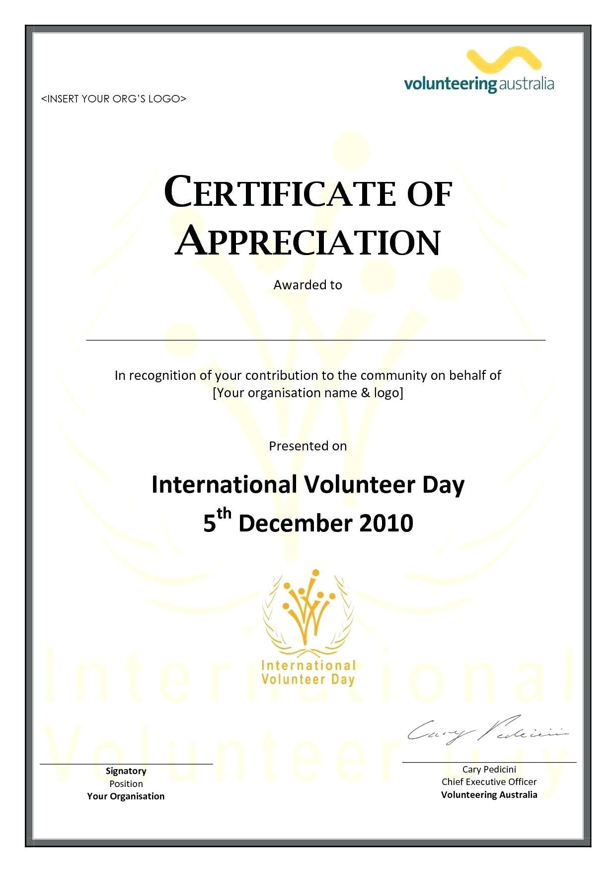 Pastor Appreciation Certificate Template