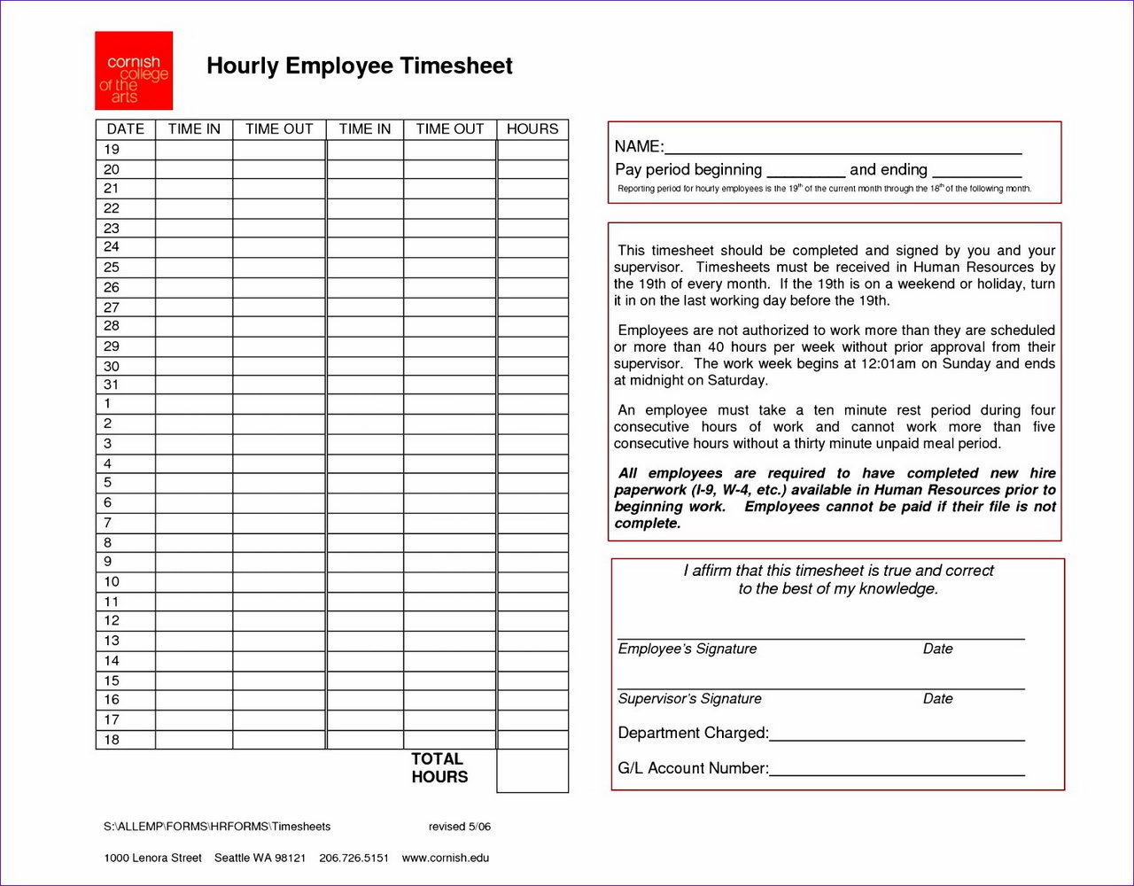Payroll Check Template Excel