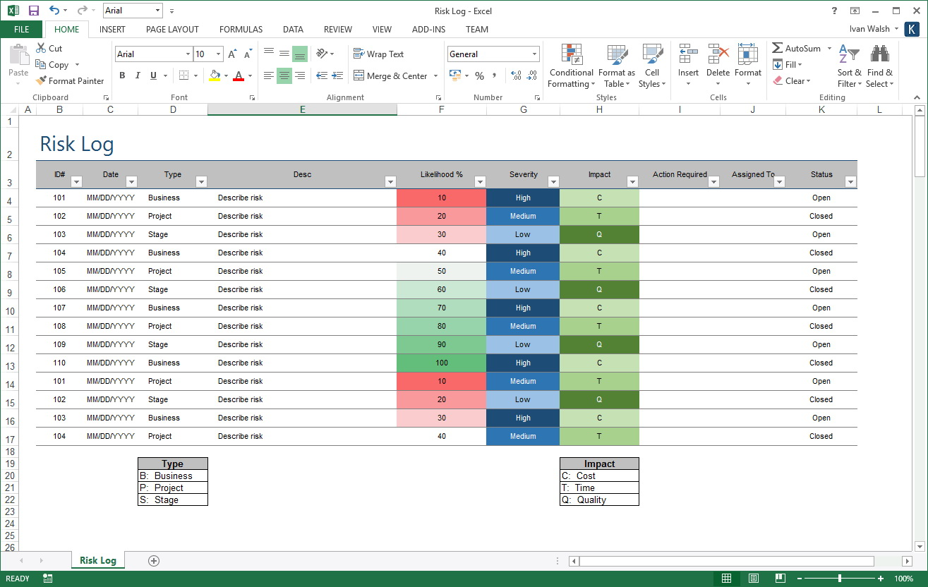 Project Management Plan Template Excel