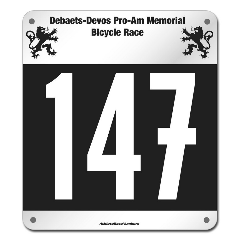 Race Bib Template Free