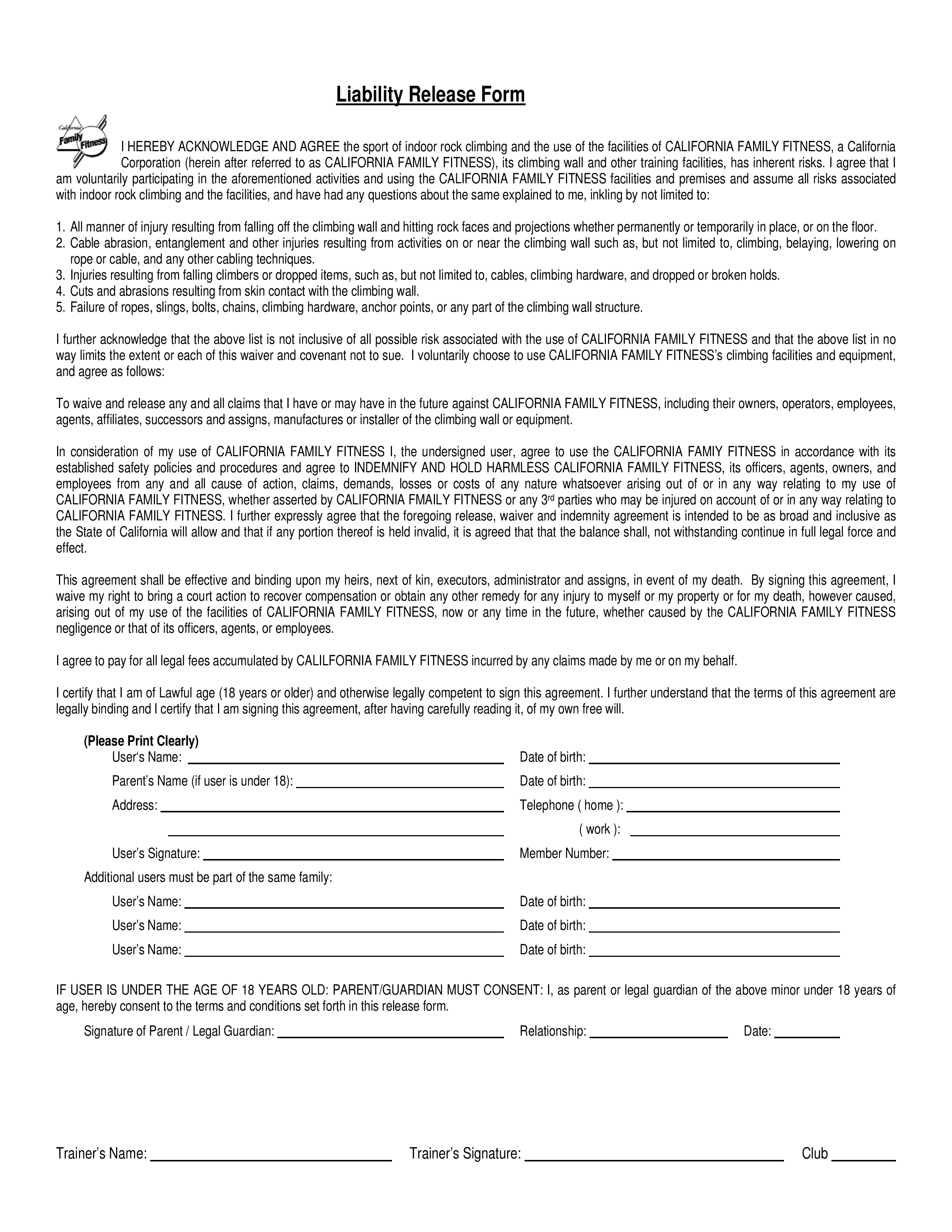 Release Of Liability Template Uk