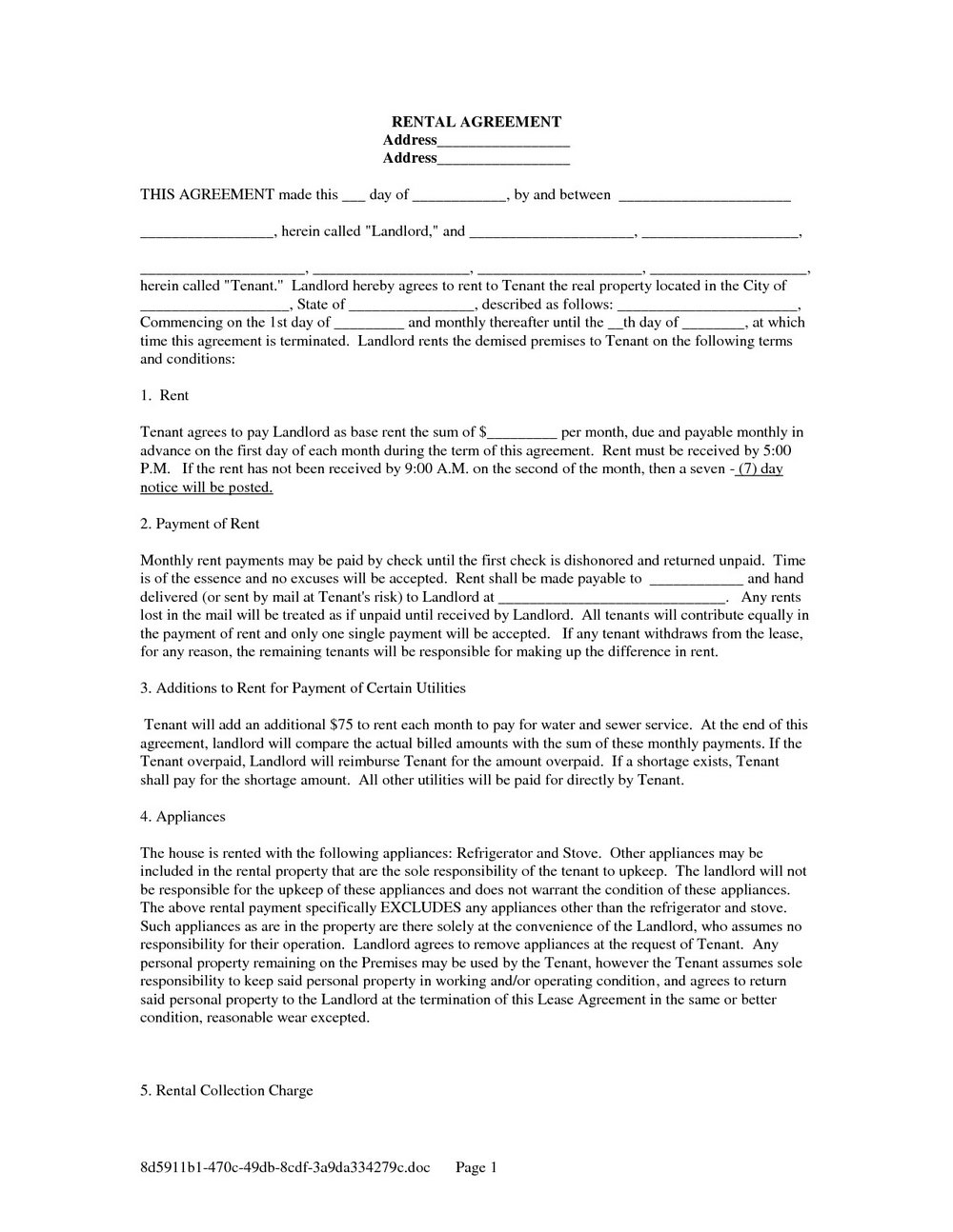 Rent To Own Contract Template Florida