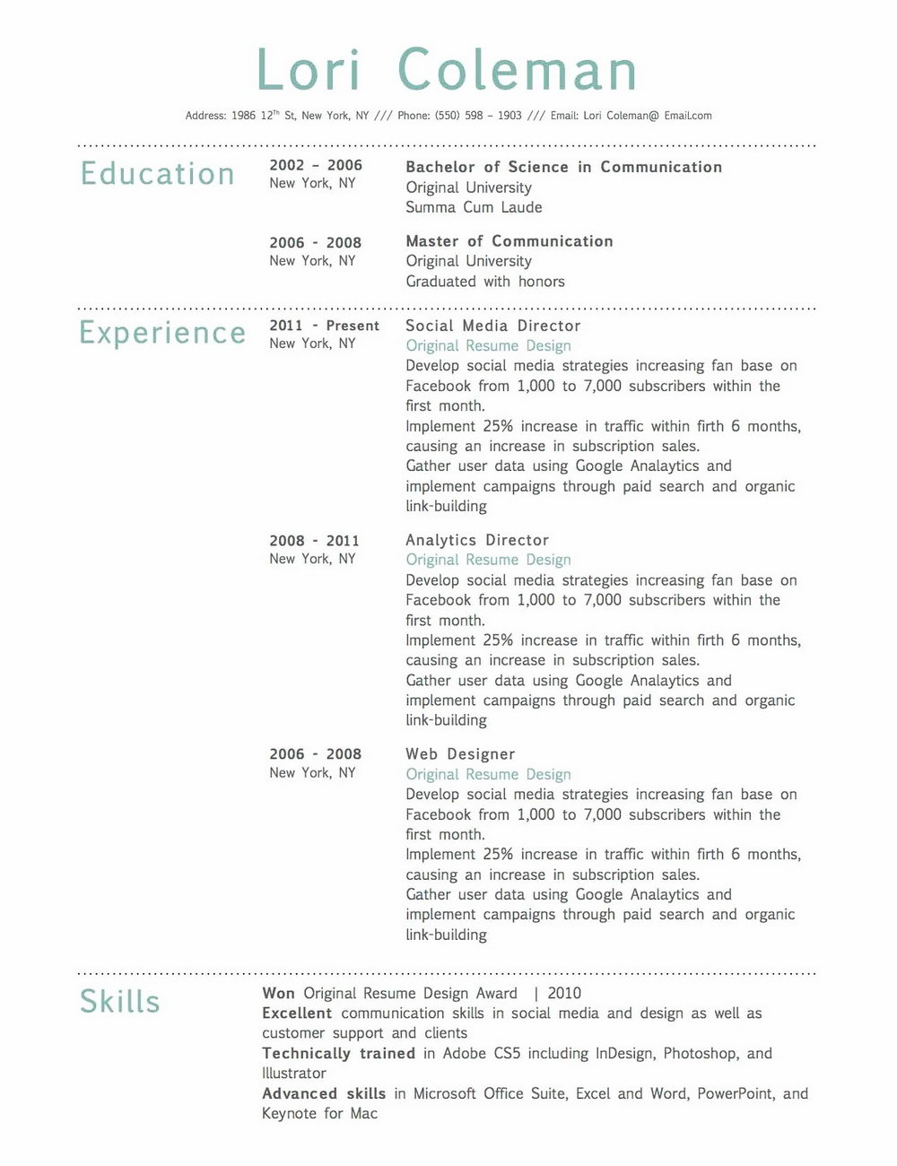 Resume Templates For Macbook Air