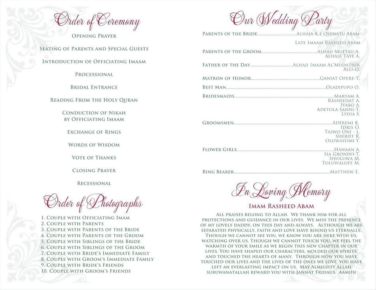 Retirement Ceremony Program Templates