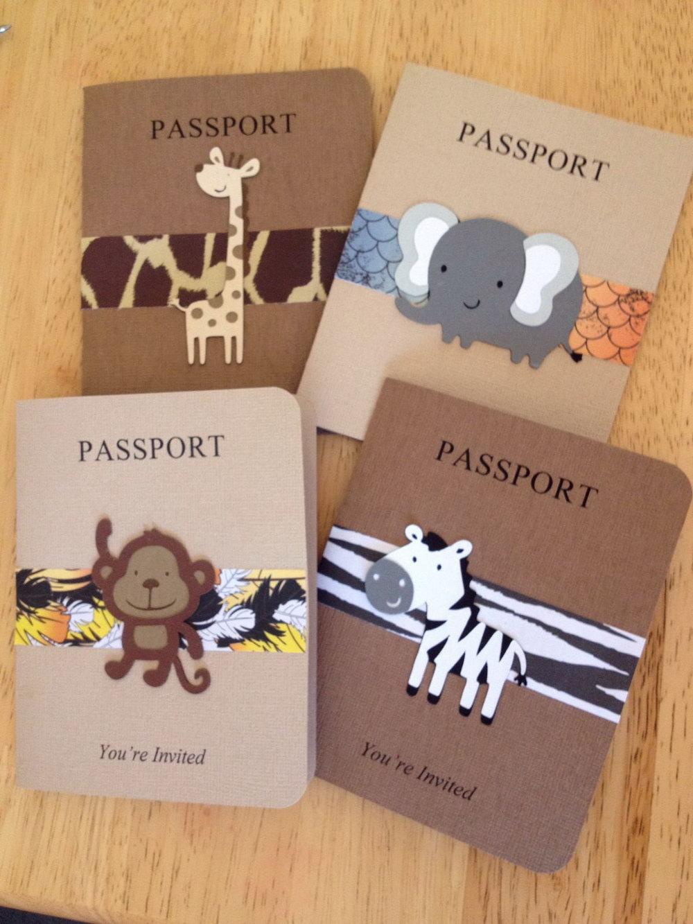 Safari Passport Invitation Template