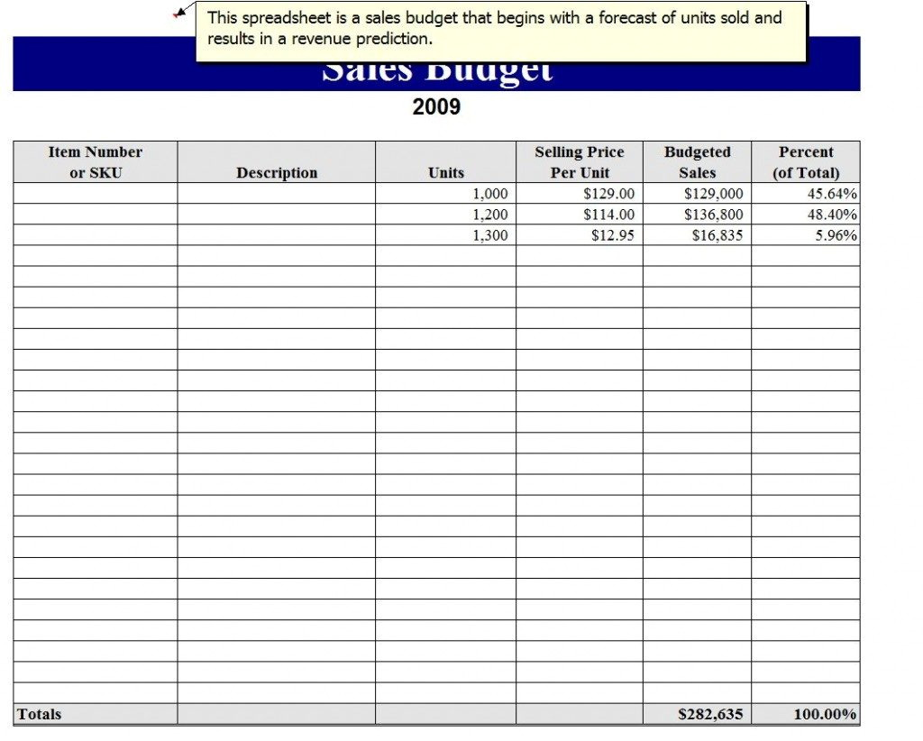Sales Proposal Template Excel